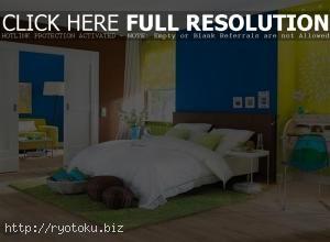 Kombinasi Warna Cat Kamar Tidur Biru