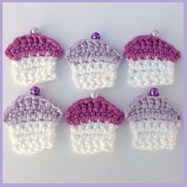 Cupcakes crochet appliques | Crochet appliqué | Pinterest ...