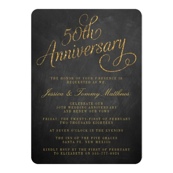 Th Golden Wedding Anniversary Invitations  Th Anniversary