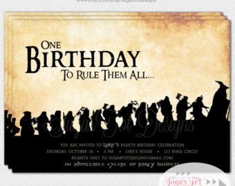 Handmade Funny LOTR Lord Of The Rings Birthday Card Party Like Hobbits