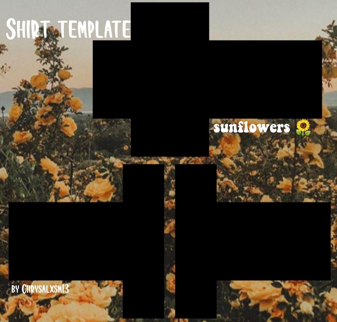 Sunflower Roblox Shirt Template In 2020 Roblox Shirt Shirt Template Roblox