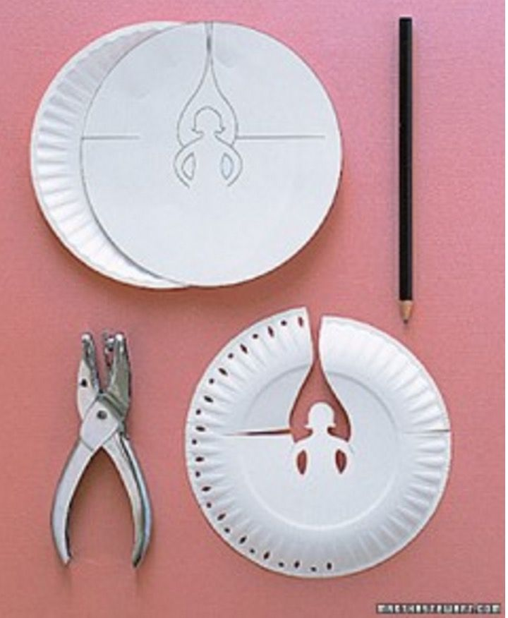 Paper Plate Angels Template Free Video Instructions Angel, Place - angels templates free