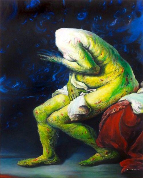 Painting by Glenn Brown