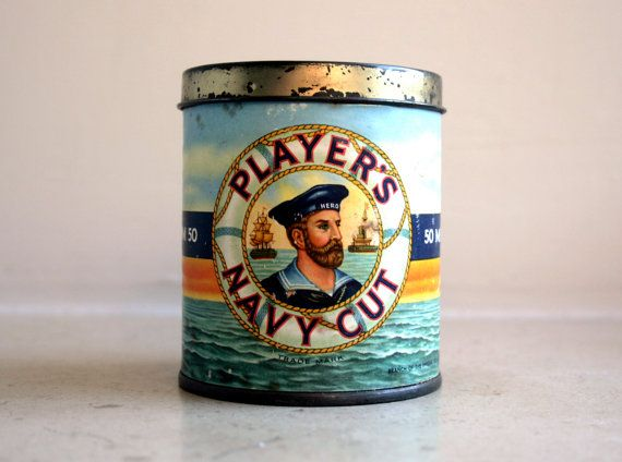 Vintage Players Navy Cut Cigarette Tin For The Home