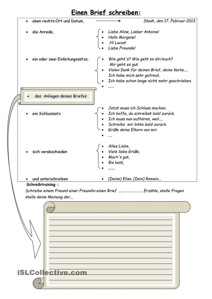 Checkliste Briefe Schreiben : Einen brief schreiben schule und deutsch