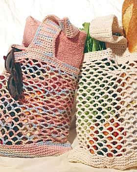 Lightweight crochet string bag, great for carrying groceries or anything else. Tutorial ✿Teresa Restegui http://www.pinterest.com/teretegui/✿