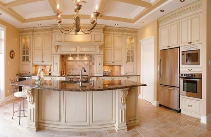 Lovely Homedepot Kitchen Cabinets   Cream colored kitchen ...