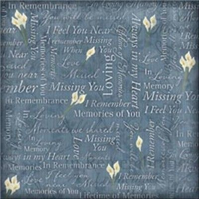 """In Loving Memory Paper 12""""X12"""" (233296) 