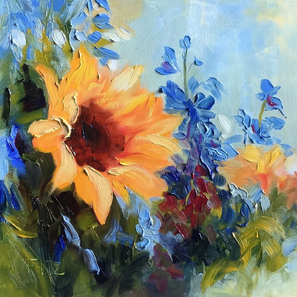 Step By Painting Sunflowers