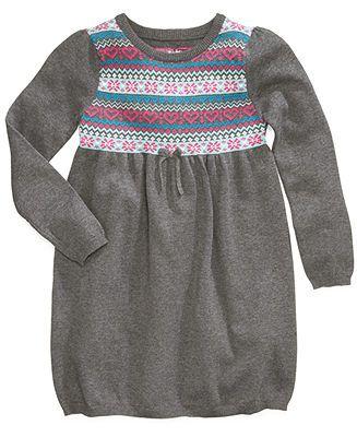 Epic Threads Girls Dress, Little Girls Fair Isle Sweater Dress ...