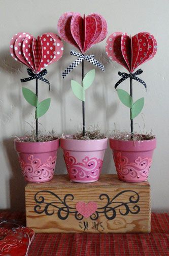 Lolli hearts flower pots