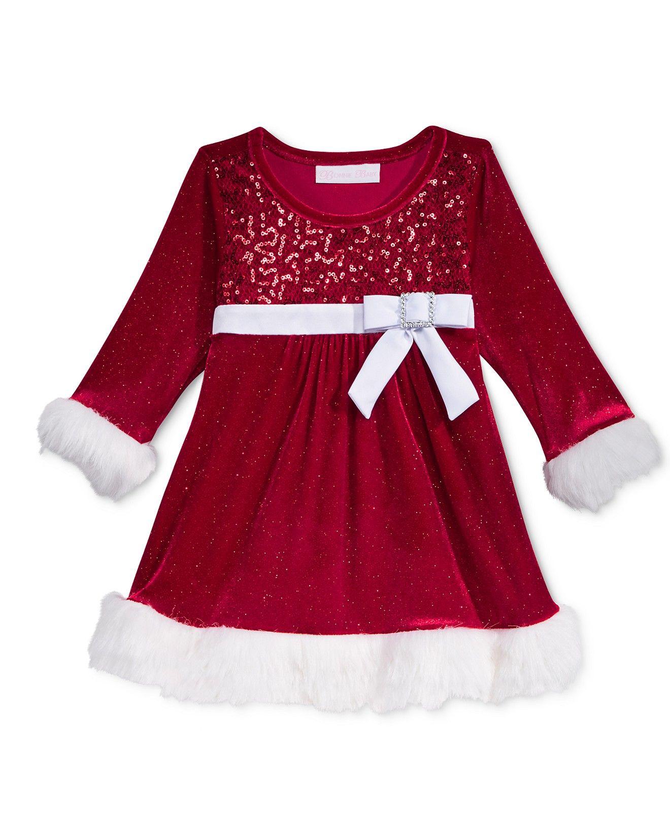 Bonnie Jean Sister Velvet Santa Dresses Baby 0 24 Months Toddler