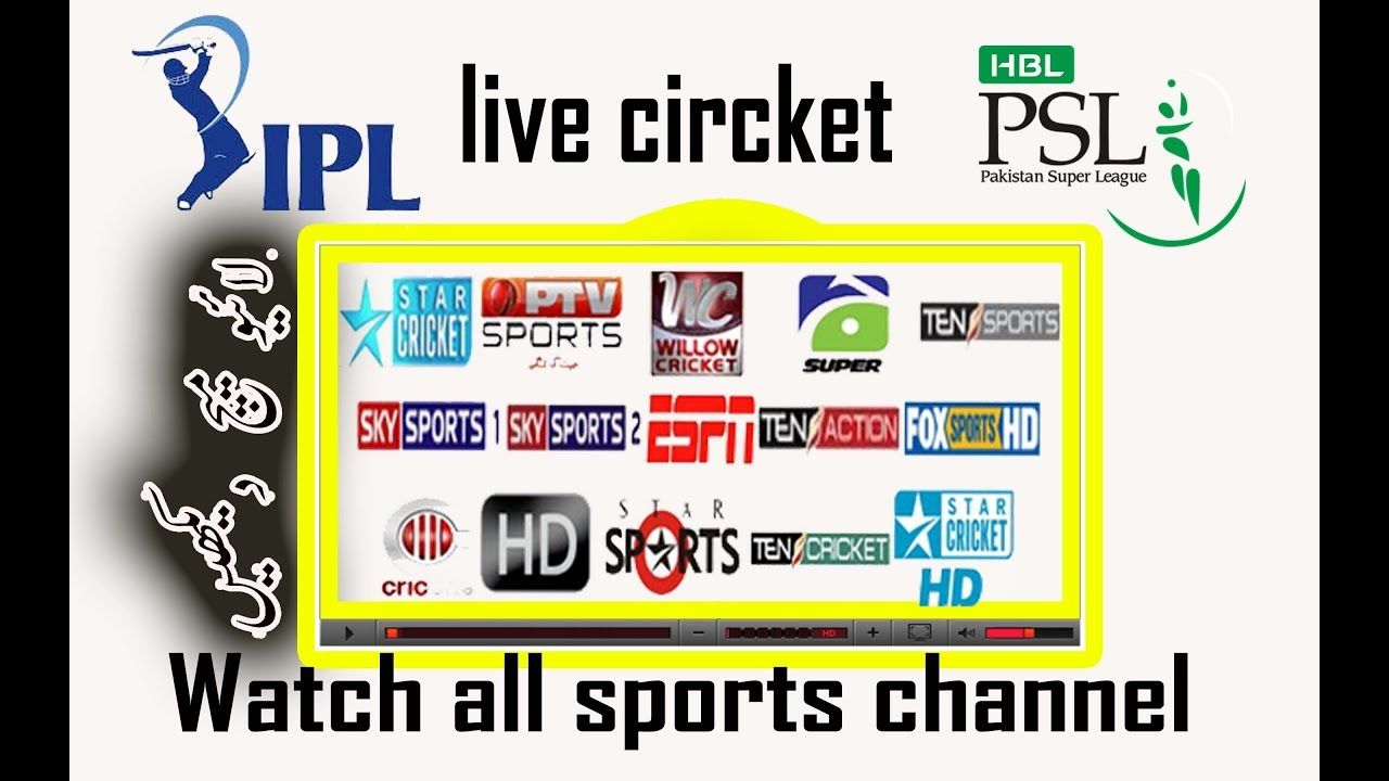 watch live sports channels cricket football etc and all tv