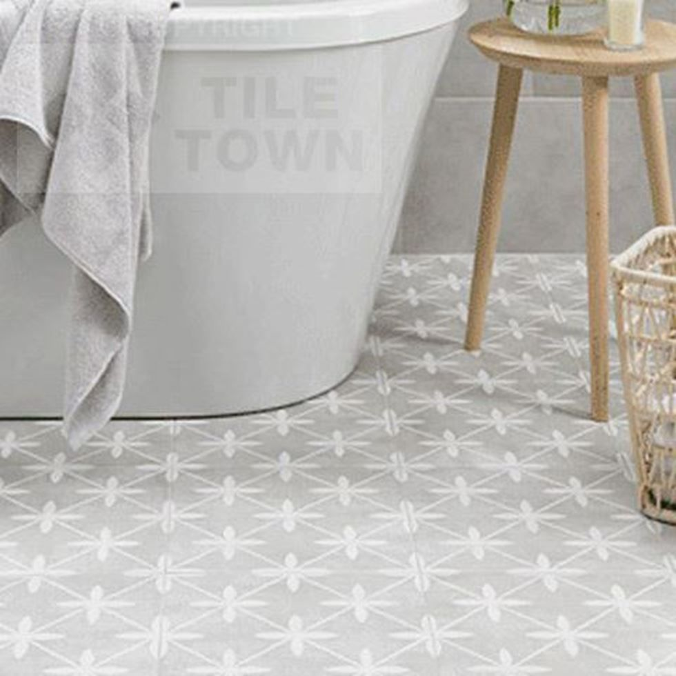 Mercaston Grey Floor Tiles supplied by Tile Town. Discounted ...