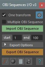 OBJ[I/O] - OBJ Sequences Import/Export for Maya | Maya
