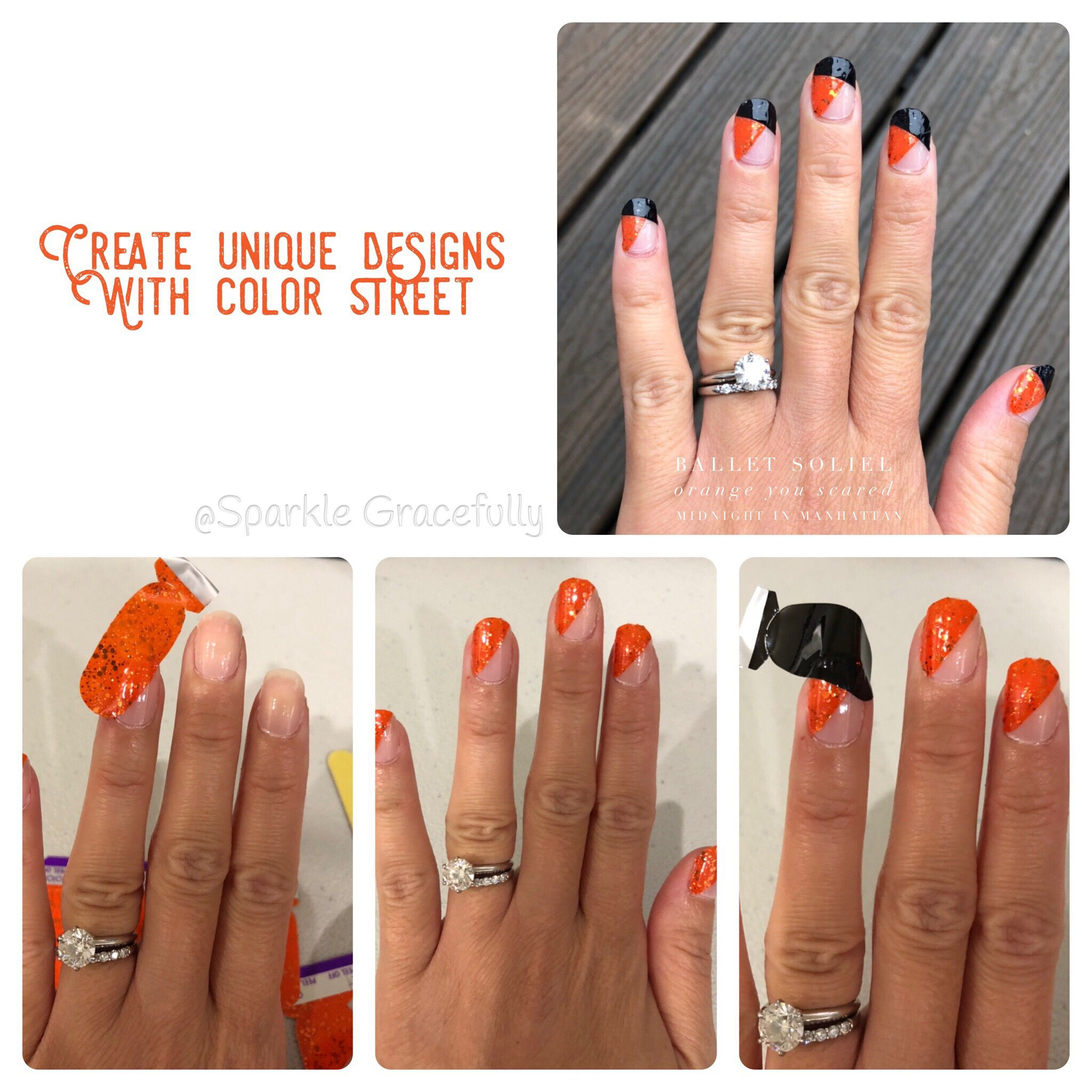 A Little How To On Creating Fun Nails With Color Strest Color Street Nails Color Street Fun Nails