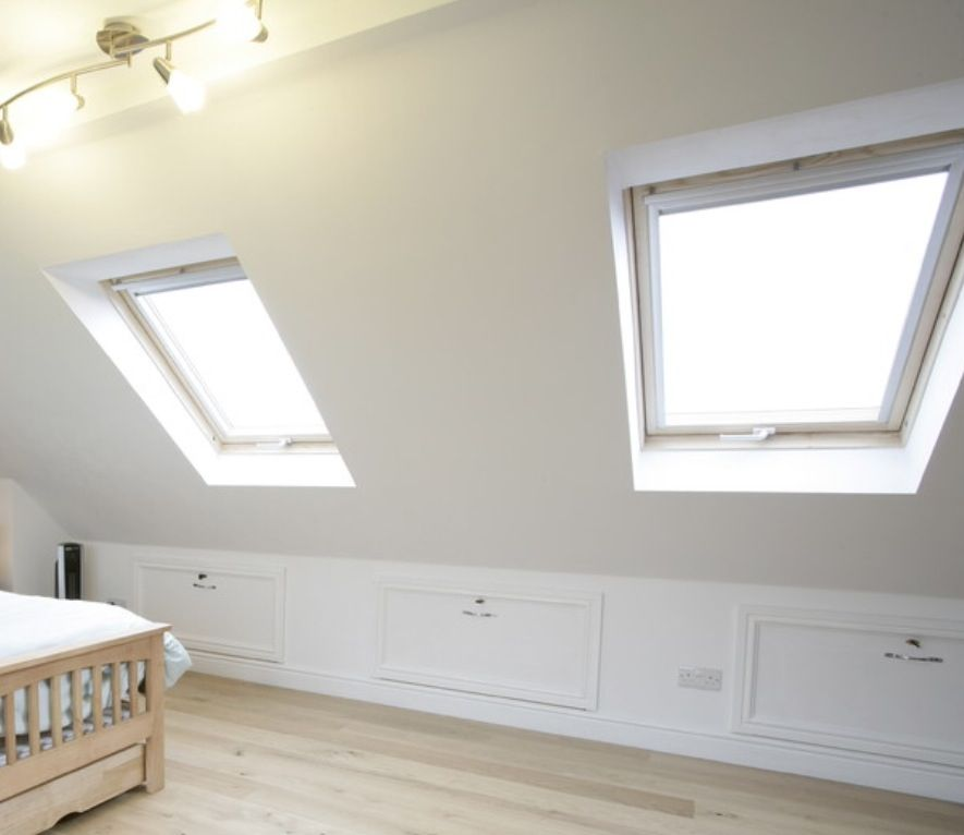Idea to make use of under eaves space post loft conversion for Utilizing space in a small bedroom
