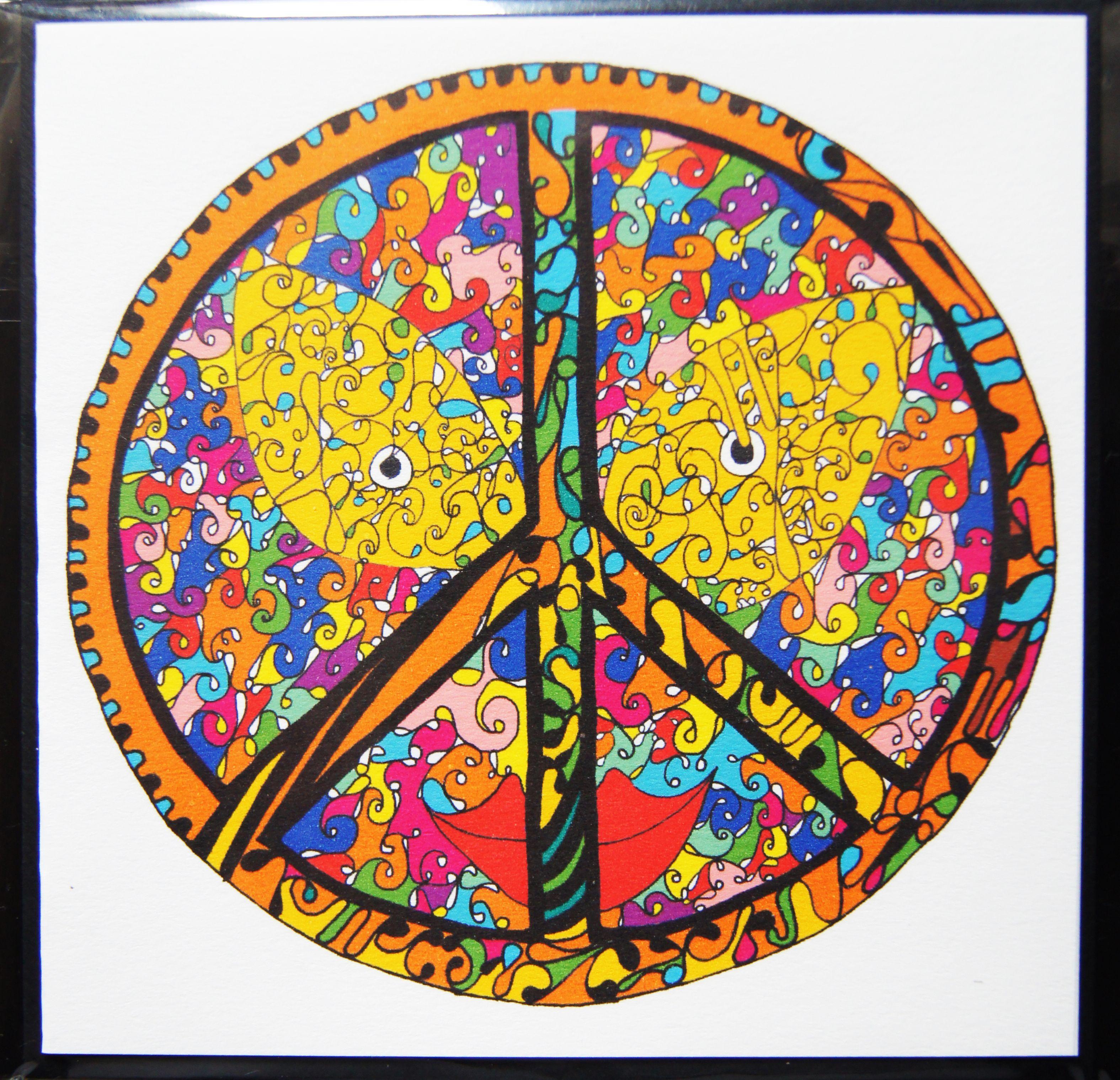Peace  Wenskaart + envelop