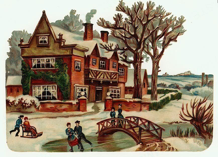 День, старые открытки дома