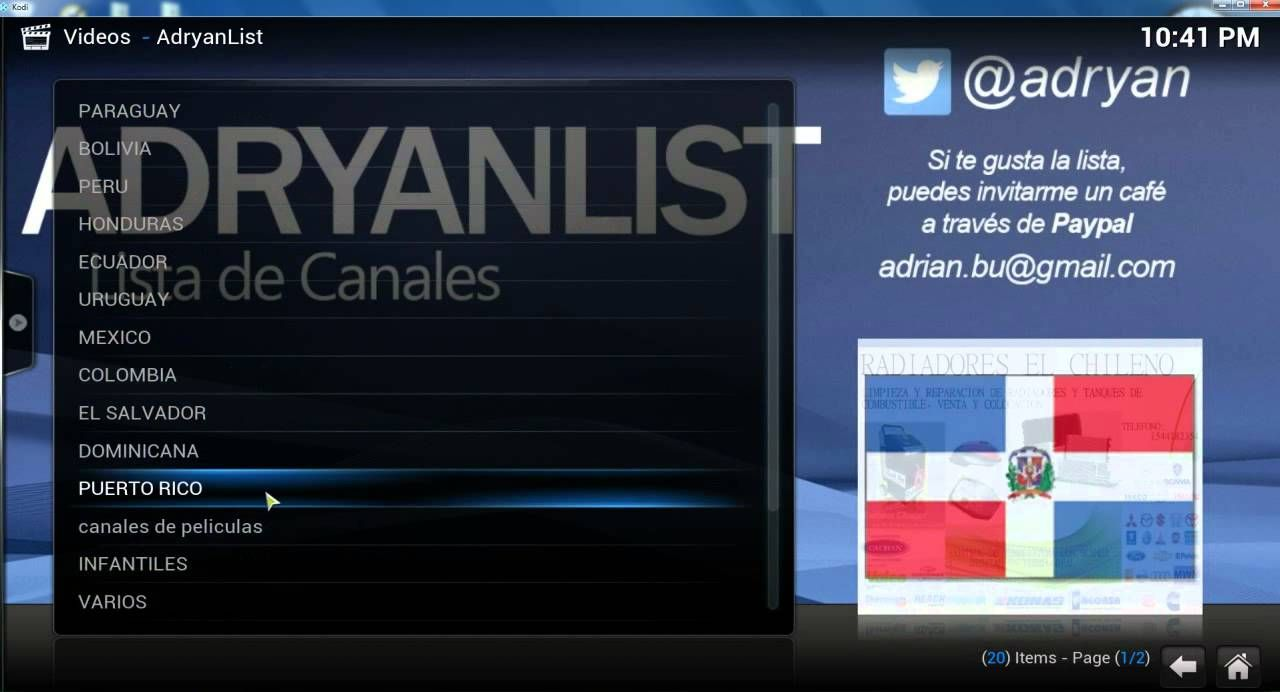 how to get tv channels on kodi