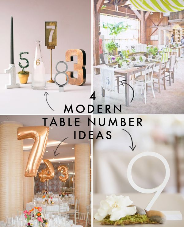 4 modern table number ideas