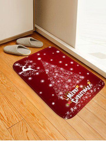 Christmas Tree Star Elk Floor Mat