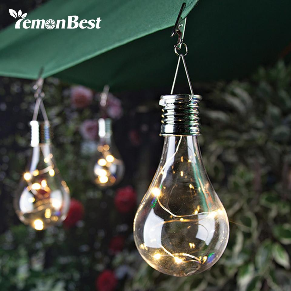 Lemonbest solar light bulb waterproof solar rotatable outdoor garden lemonbest solar light bulb waterproof solar rotatable outdoor garden camping hanging led light lamp bulb warm white with hook aloadofball Images