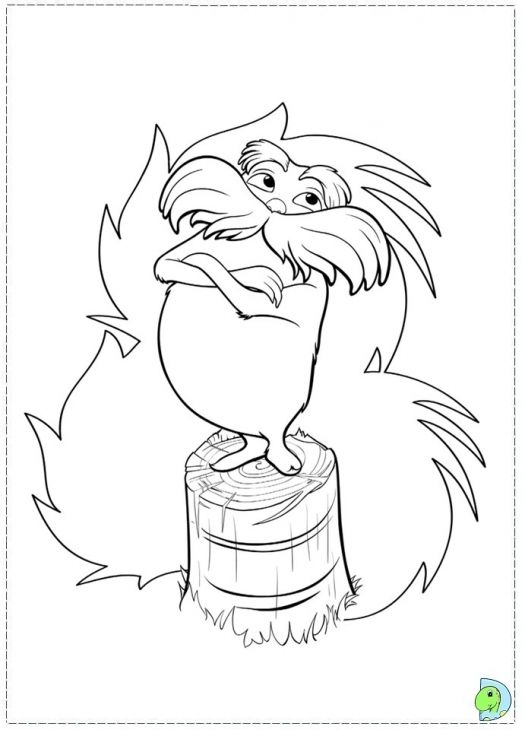 The Lorax Coloring Page Printable | Enrichment | Pinterest