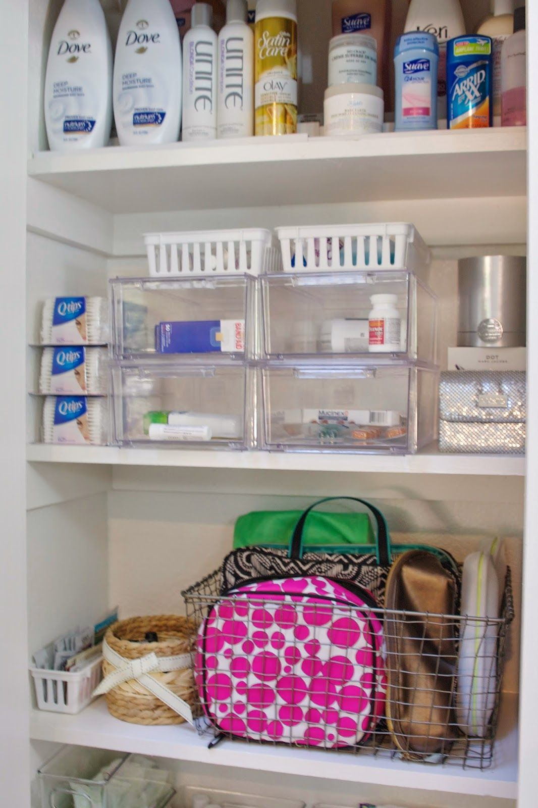 How to de clutter your beauty cabinet kendi everyday - Organized Bathroom Supply Cabinet