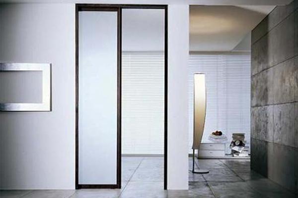 Verre - Pantareï à galandage Passage-porte HLN - porte - porte coulissante style atelier