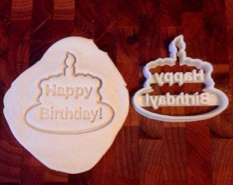 Happy Birthday Cake Cookie Cutter