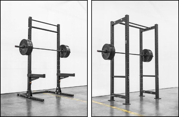 Footprint and price difference between a squat rack