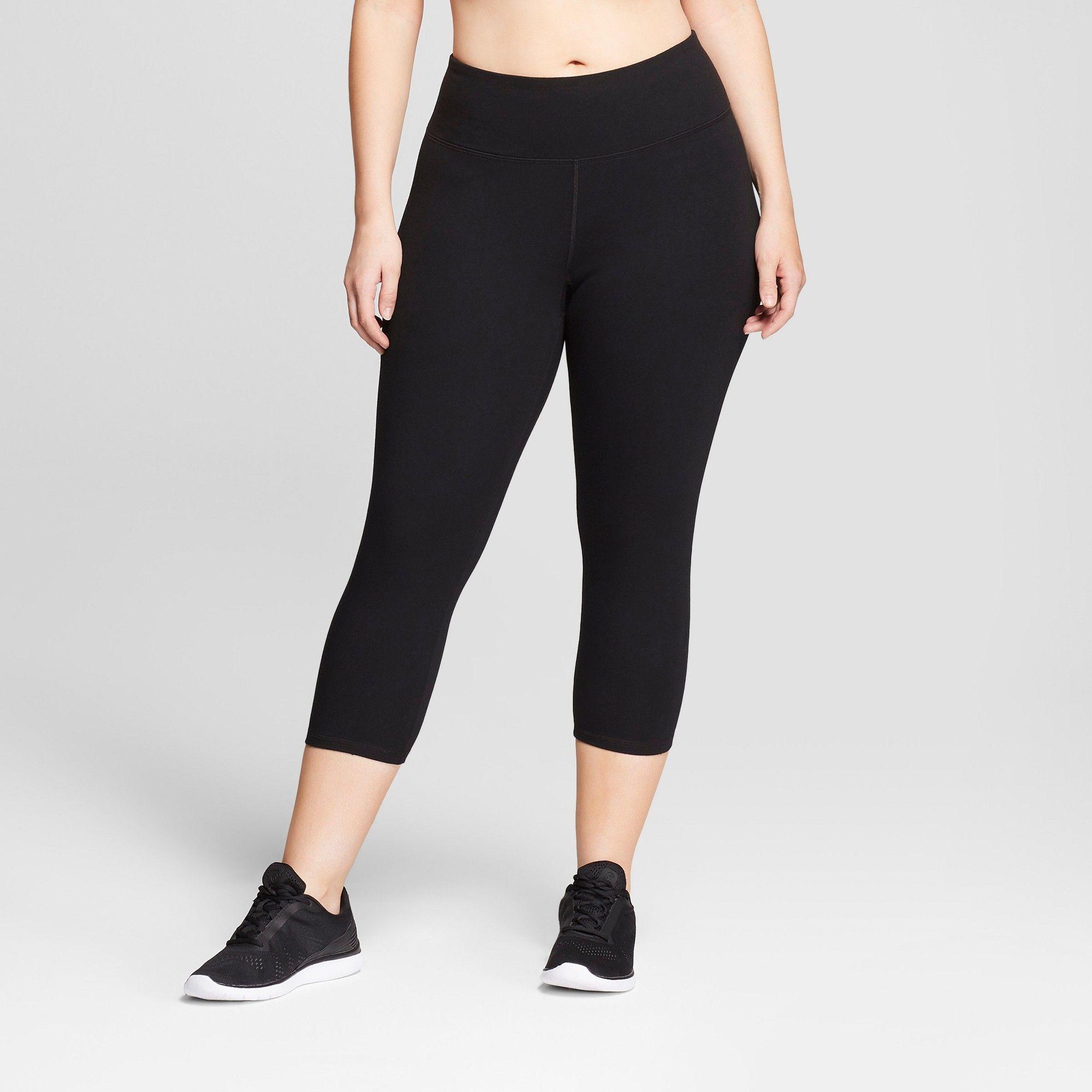 d4145188a510 Women s Plus Size Cotton Spandex Capri Leggings - C9 Champion Black ...