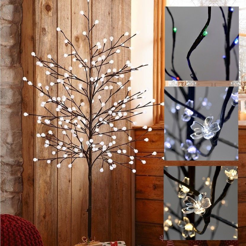 3 7 Feet Prelit 60 180 Led Prelit Twig Tree Lighted Branch Tree Decorative Lamp Flower Lamp Twig Lights Lighted Branches