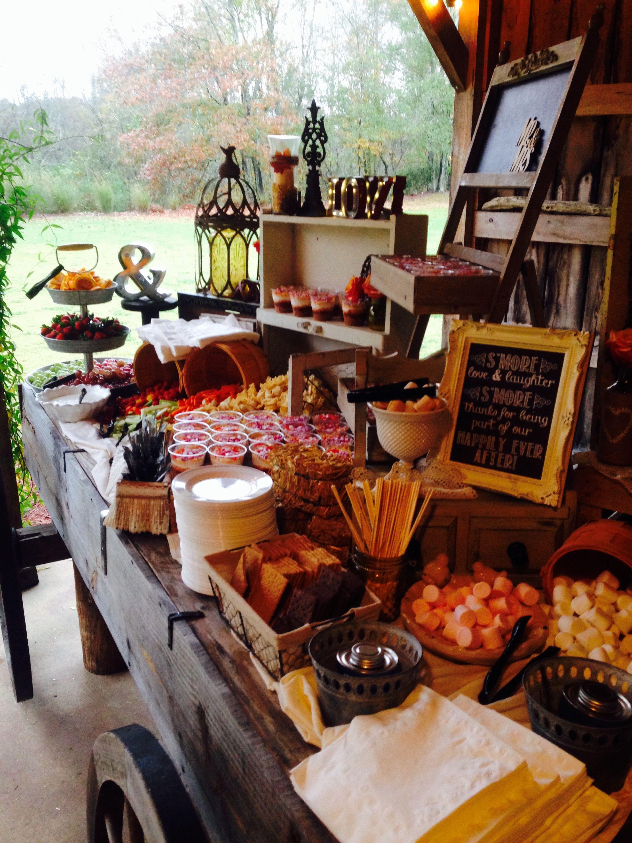 Fall Wedding Foods, Buffet Ideas, Food Table Displays, Rustic Elegance,