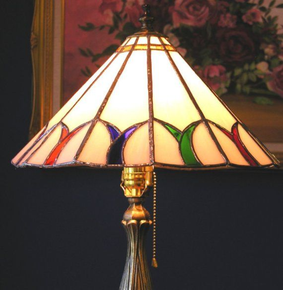 Stained Glass-Lamp -Unity Pattern 12 Panels Multi Color