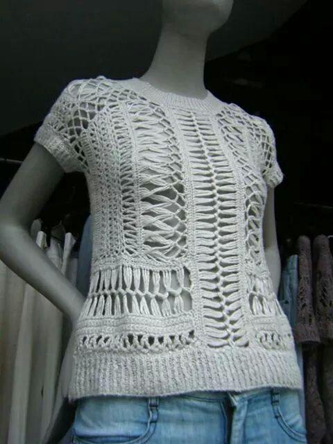 Blusa croche | crochet | Pinterest | Horca, Blusas crochet y Tejido