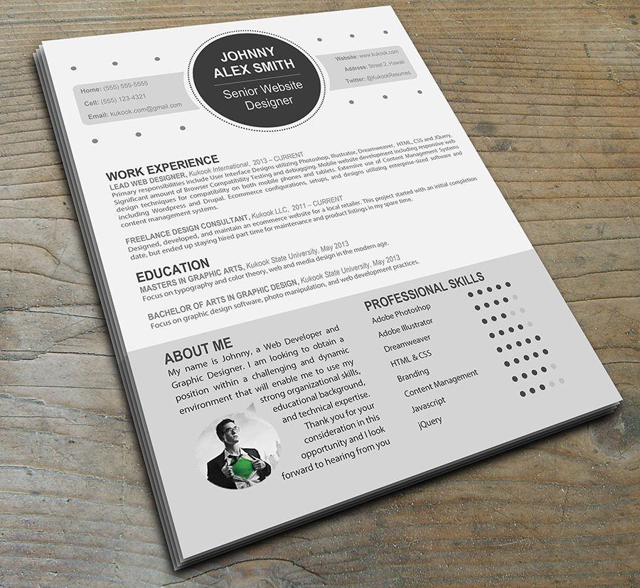 Very Nice Resume Template, Love The Graph In The Right Corner   Cute Resume  Templates  Cute Resume Templates