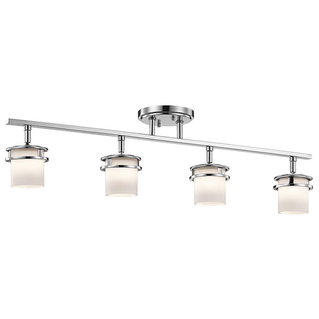 kichler lighting hendrik collection 4 light chrome rail light
