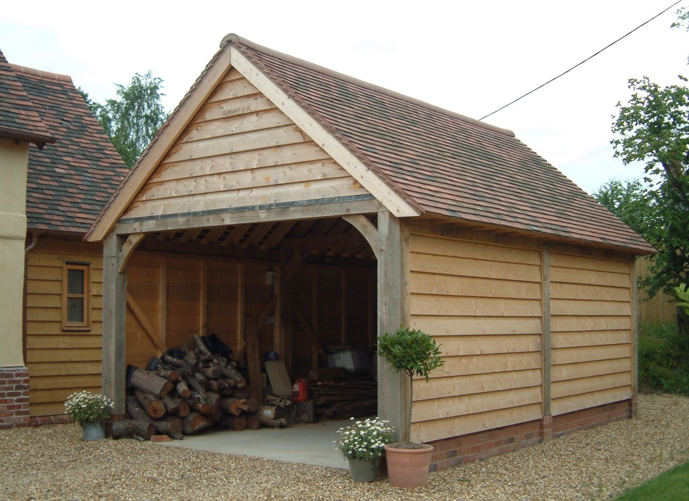 Garages and Carports Timber frame garage, Carport