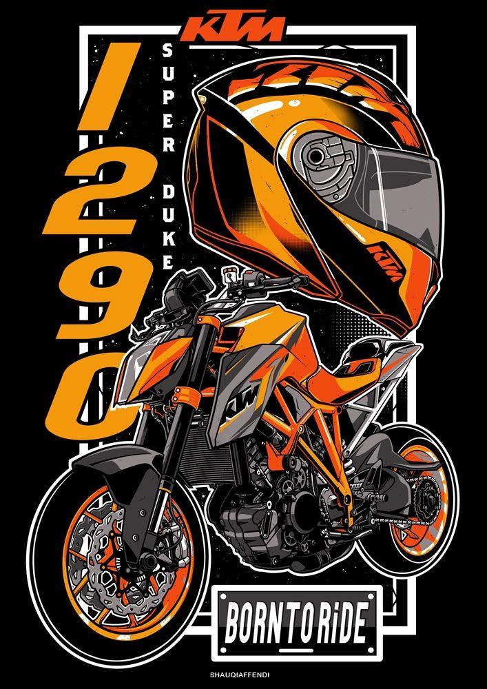 Ktm 1290 Super Duke 2017 On Behance Vintage Motorcycle Art Motorcycles Logo Design Motorcycle Artwork Get ktm duke iphone wallpaper png