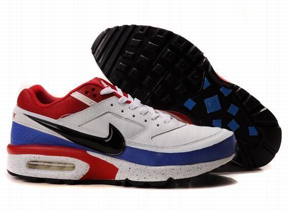 Nike Air Max Classic BW Mensen Schoenen Wit/Blauw/Rood
