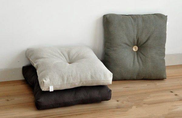 Modern Japanese Large Floor Cushions Square 50cm 55cm 60m Tatami Zaisu Legless Chair Seating Huge Zabuton M Large Floor Cushions Floor Cushions Meditation Seat