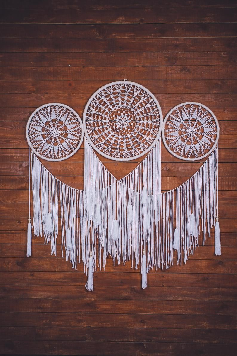 Would this boho white dream catcher set melt your heart? Absolutely. This is a beautiful handcrafted backdrop that will bring peace and serenity to your special day. Consider this extra large dream catcher, if are looking for a gift for someone special. Bohemian wall art for a boho soul. Pure beauty.  #dreamcatcherbackdrop #dreamcatcherset #bohoparty #partydecorations #daughterbirthday #firstbirthdaygift