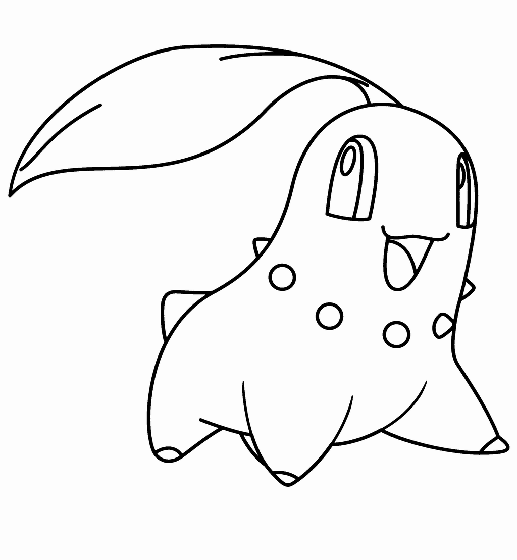 Pokemon Ausmalbilder Mega Entwicklung : Pokemon Germignon Chikorita Para Colorear Gif 1024 1109