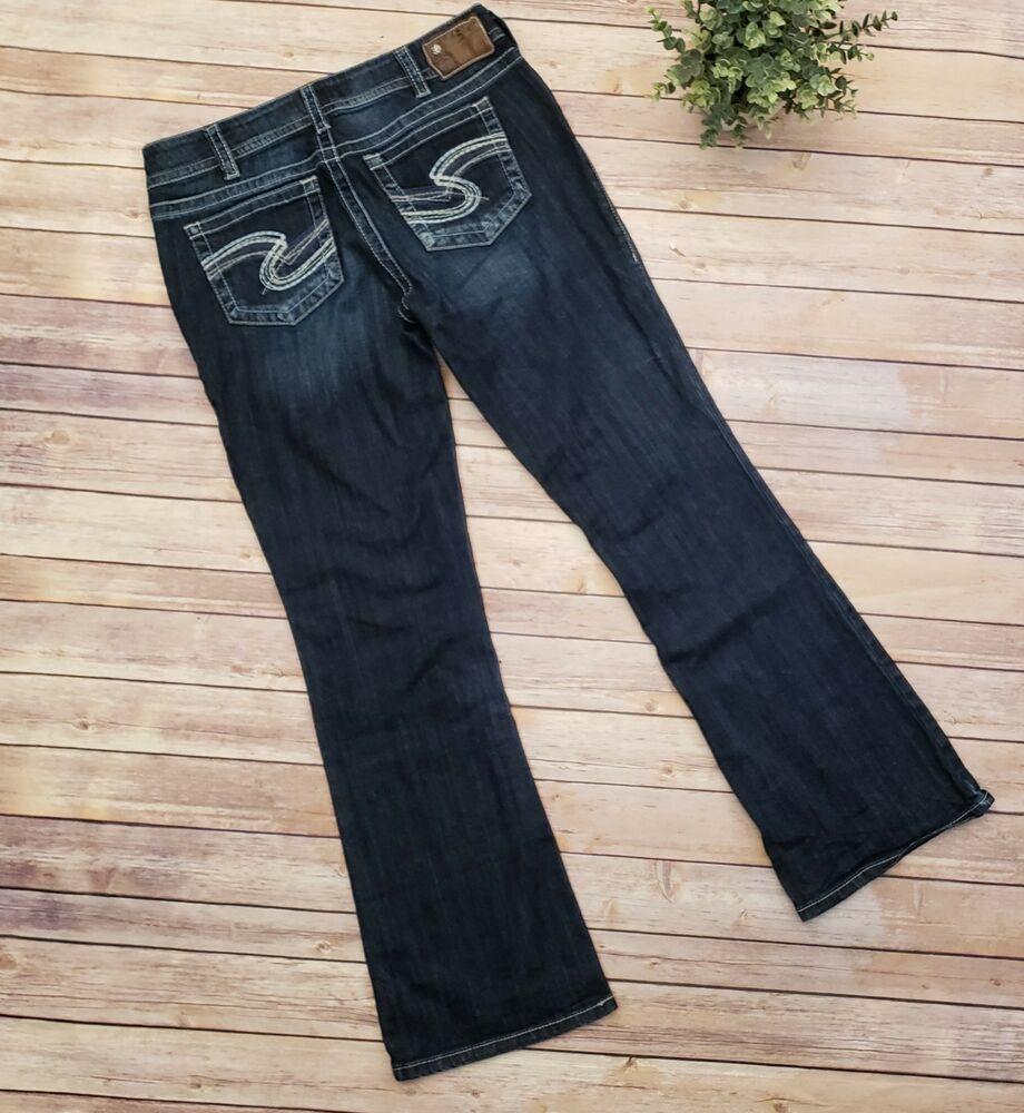 dd788170c6d Womens Silver Suki Boot Cut Womens Dark wash Blue Jeans Size 31 x 32  Designer  SilverJeans