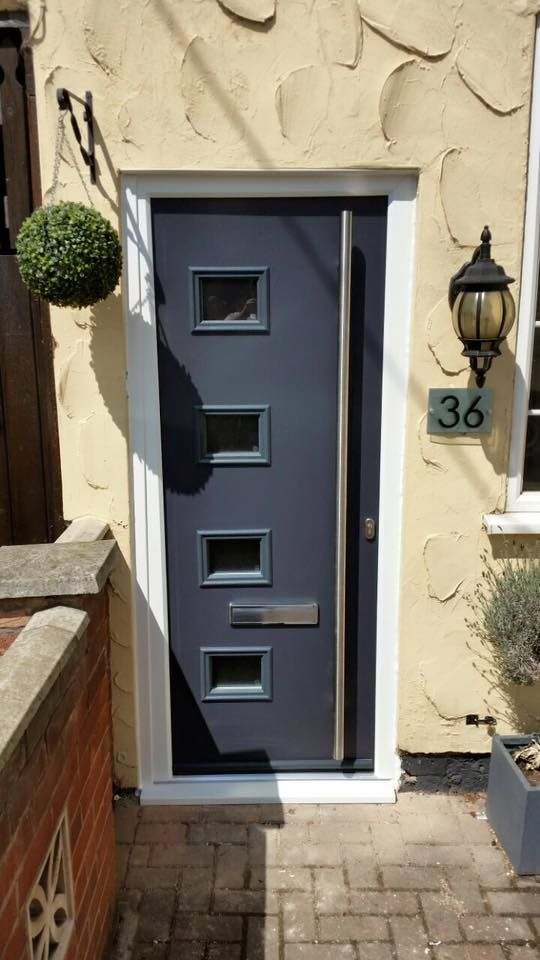 This Modern Composite Front Door Looks Fab In Anthracite Grey Find