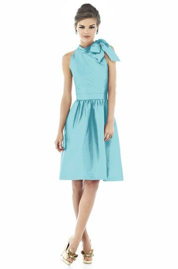 alfred sung aquamarine dress Weddington Way