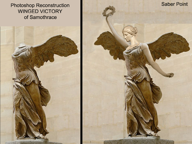 c262ea187c913 Saberpoint: Photoshop Reconstruction of WINGED VICTORY of Samothrace ...
