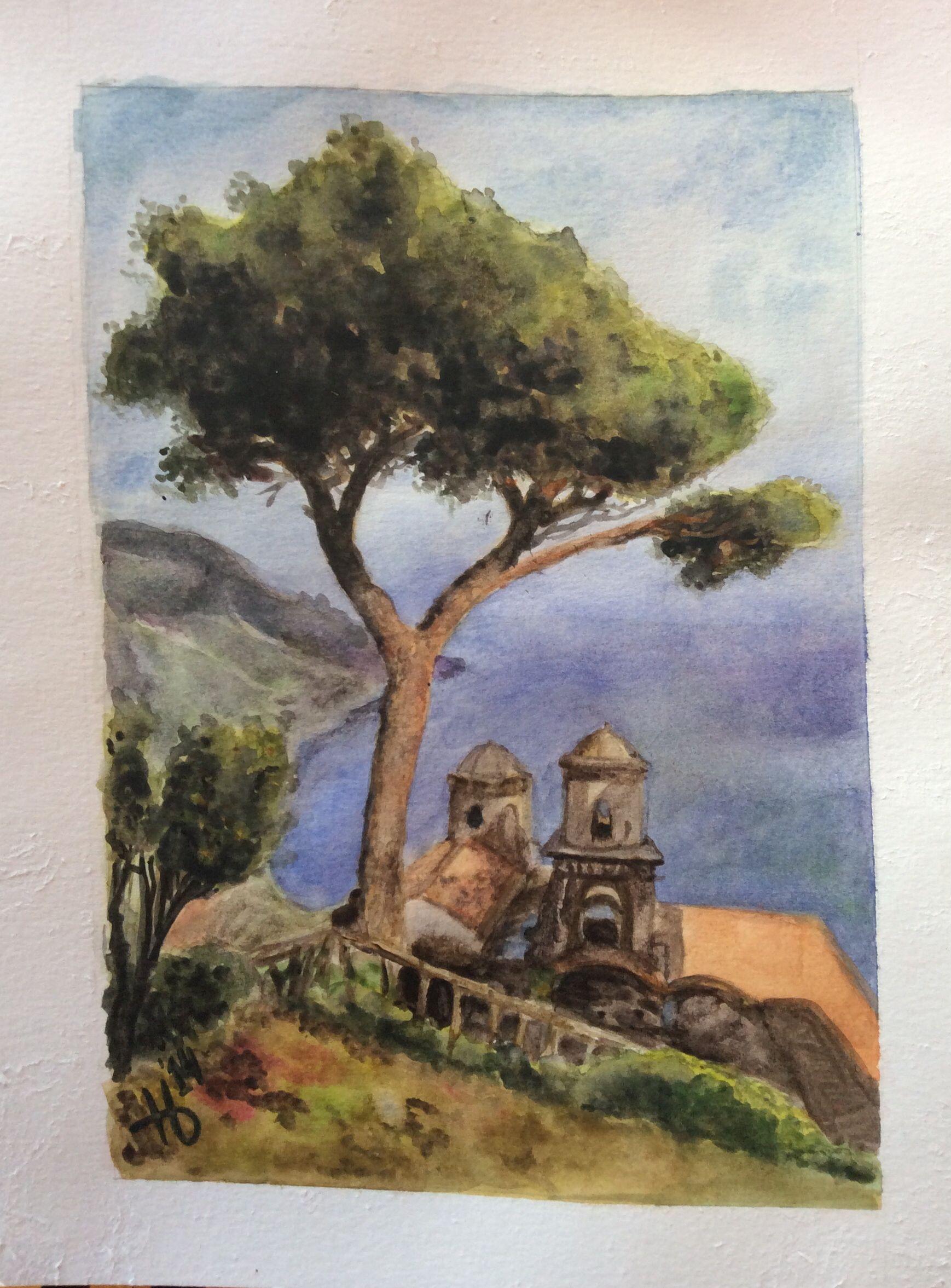 My finished tree from art class!! Ravello, Italy by Nina D